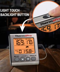 ThermoPro TP 16S Light Touch Backlight button