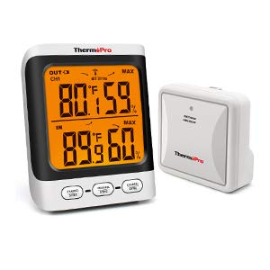 ThermoPro TP62 Digital Wireless Hygrometer Humidity Gauge Monitor with Backlight