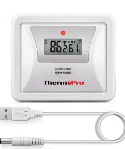ThermoPro TX-5 Universal Rainproof Transmitter Monitor with LCD Display
