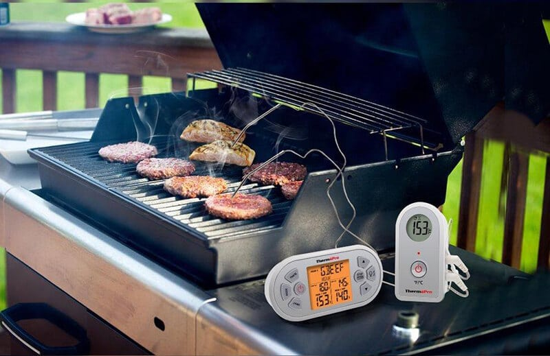 smoke grilling with wireless food thermepro