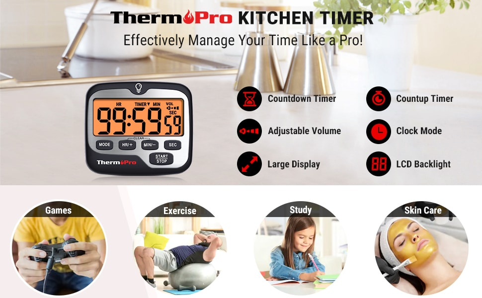 The ThermoPro TM01 multifunctional timer