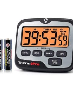 ThermoPro TM01 Digital Kitchen Timer with Countdown Touchable Backlit