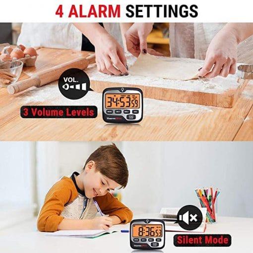 ThermoPro TM01 Digital Kitchen Timer Alarm Setting