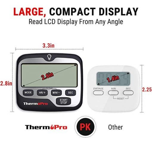 ThermoPro TM01 Digital Kitchen Timer Large display