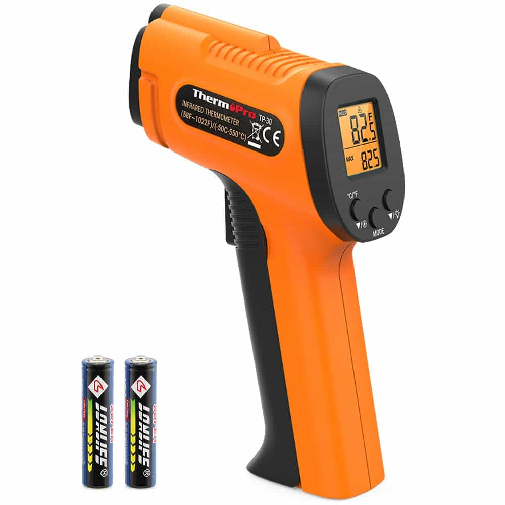 ThermoPro Infrared Thermometer Gun with batteries