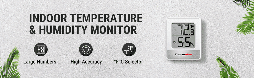 ThermoPro TP49 Indoor Temp &Humidty Monitor Banner