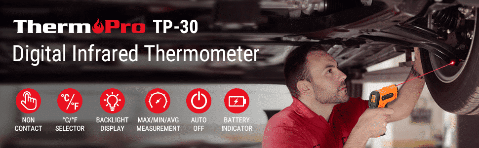 ThermoPro TP30 Digital Infrared Thermometer Gun