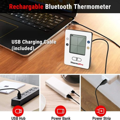 ThermoPro TP25 Rechargable Bluetooth Thermometer