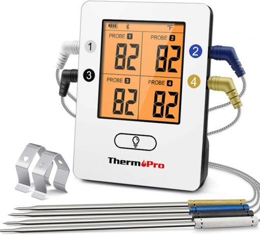 ThermoPro TP25 Smart Wireless Bluetooth Meat Thermometer with 4 Color Coated Probes