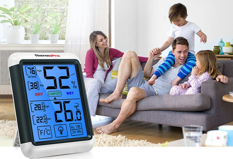 Indoor Outdoor Thermometer for Feel Like Temps