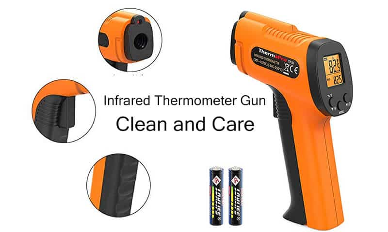 Thermometer Gun Clean and Care