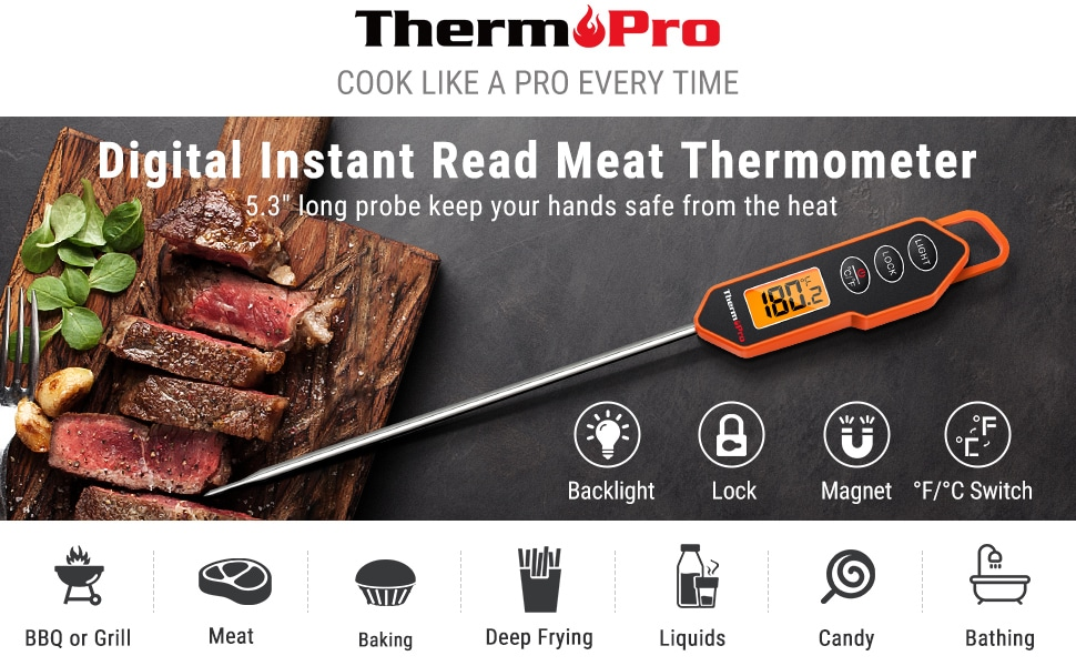 ThermoPro Digital Instant Read Meat Thermometer banner