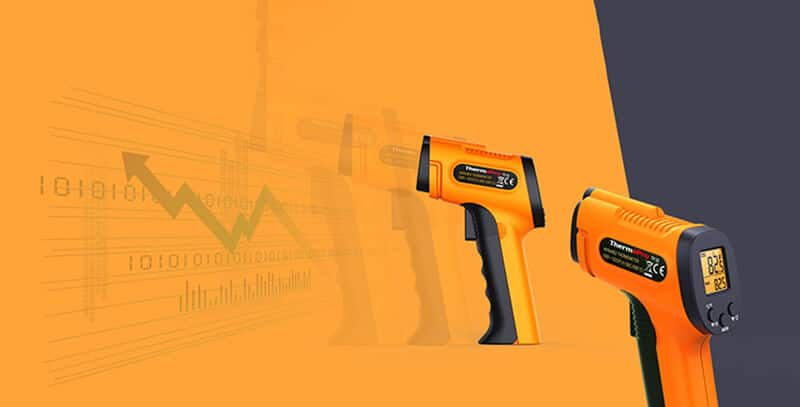 ThermoPro TP30 Thermometer Gun left side