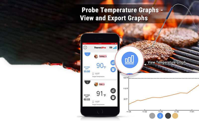 Bluetooth meat thermometer with app