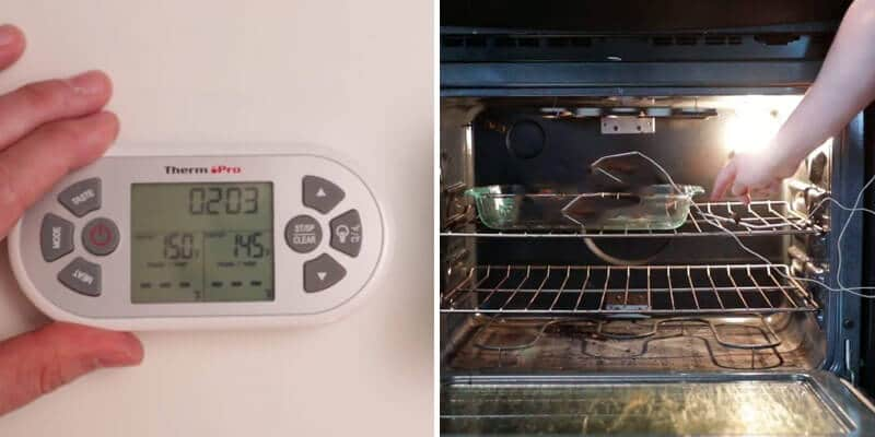 Test the oven temp