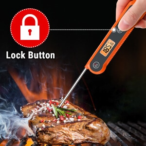 ThermoPro Digital Instant Read Meat Thermometer TP03H Lock function
