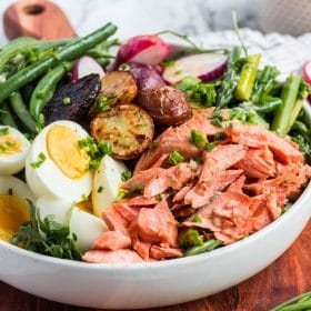 Quick and Easy Salmon Noice Salad