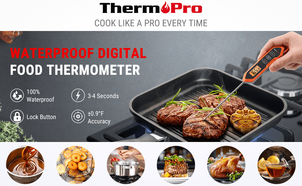 ThermoPro TP15H Digital Instant Read Meat Thermometer banner 1