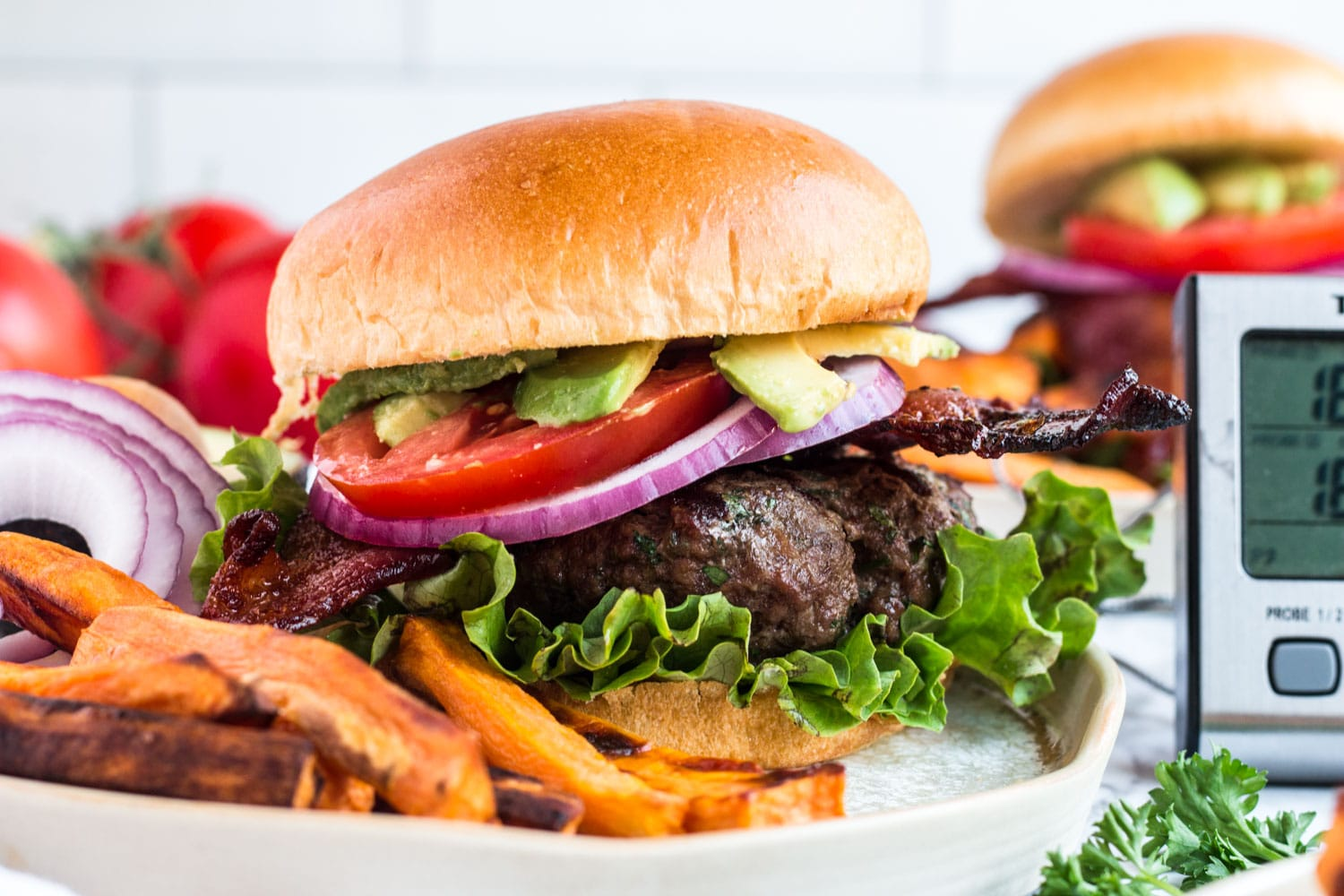 Bacon Grilled Burgers - Summer Recipes