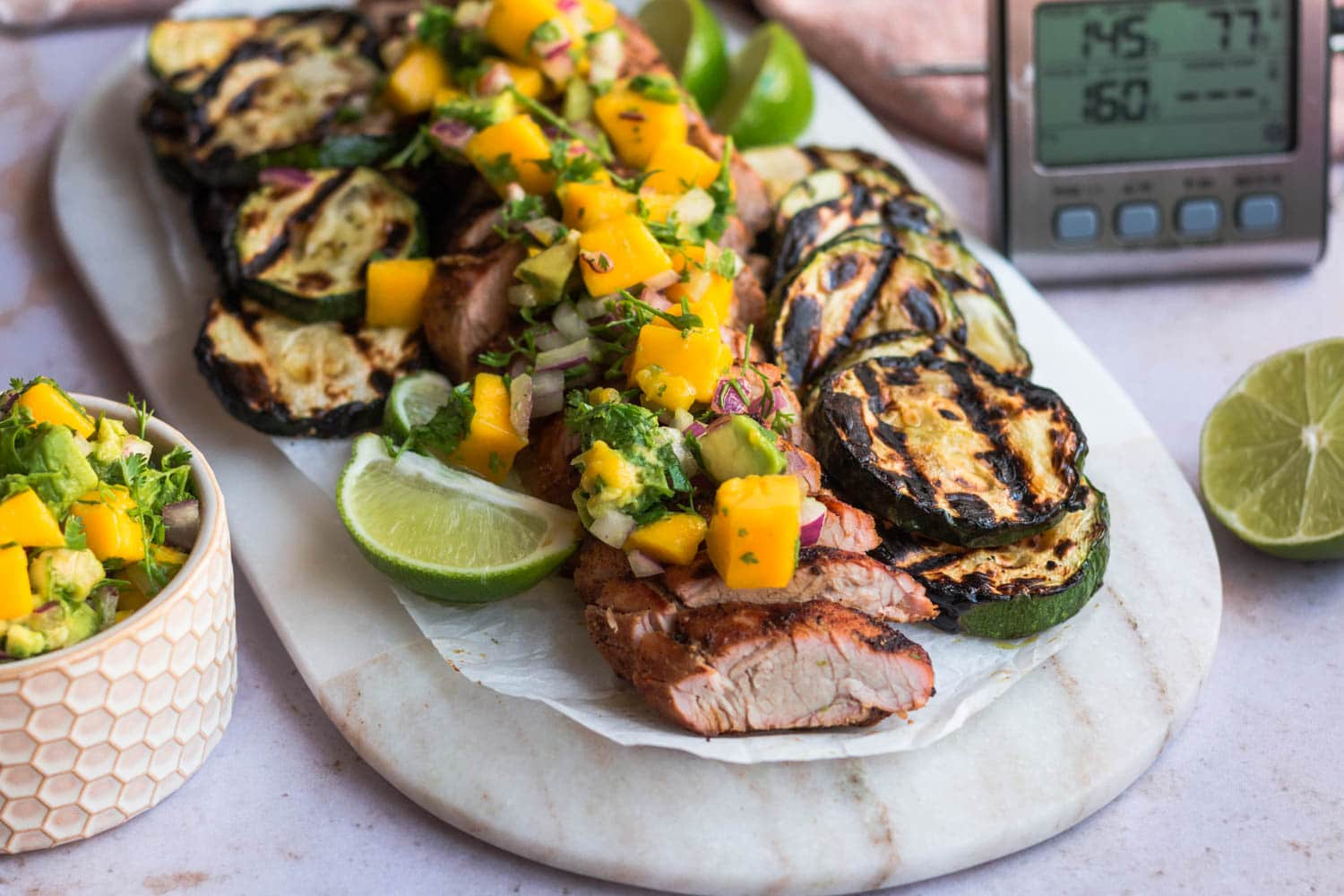 Delicious Mango Salsa and Grilled Pork