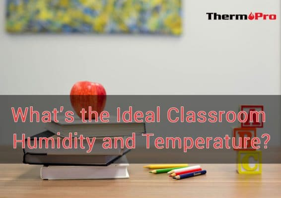 ideal classroom humidity and temperature