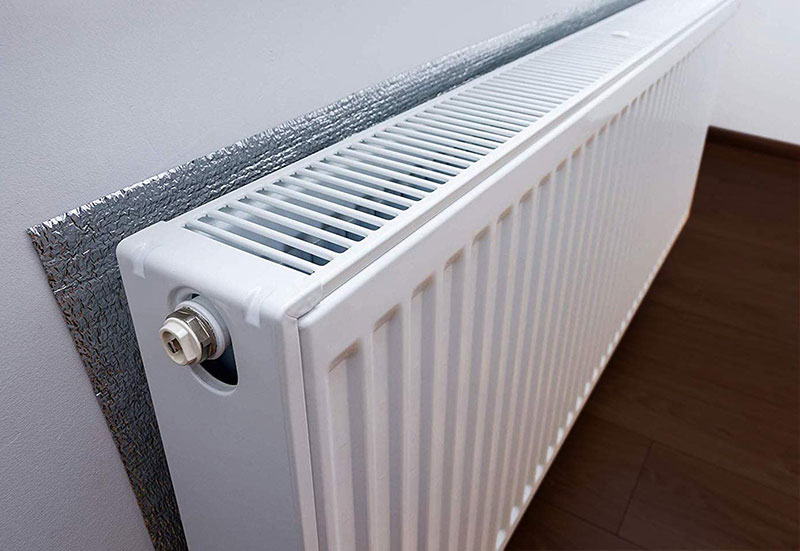 foil designed to prevent heat loss from radiators