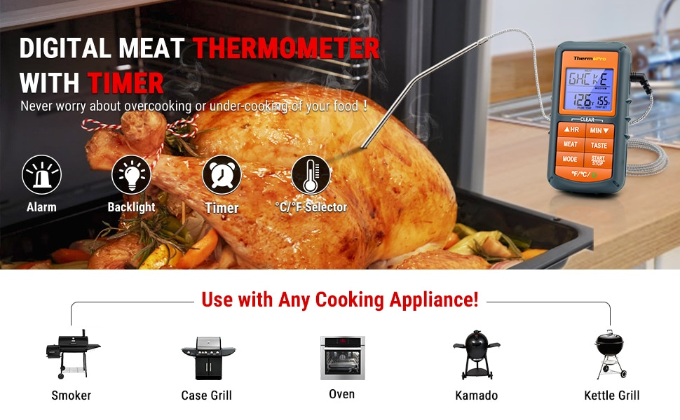ThermoPro TP-06S use with any cooking application