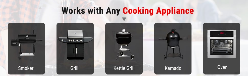 Thermometer Work with Any Cooking Appliance