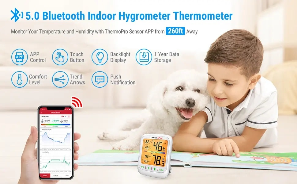 Bluetooth Indoor Hygrometer thermometer