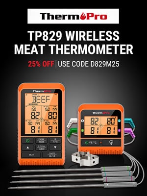 TP829 Wireless Meat Thermometer 25% Discount Blog Sidebar