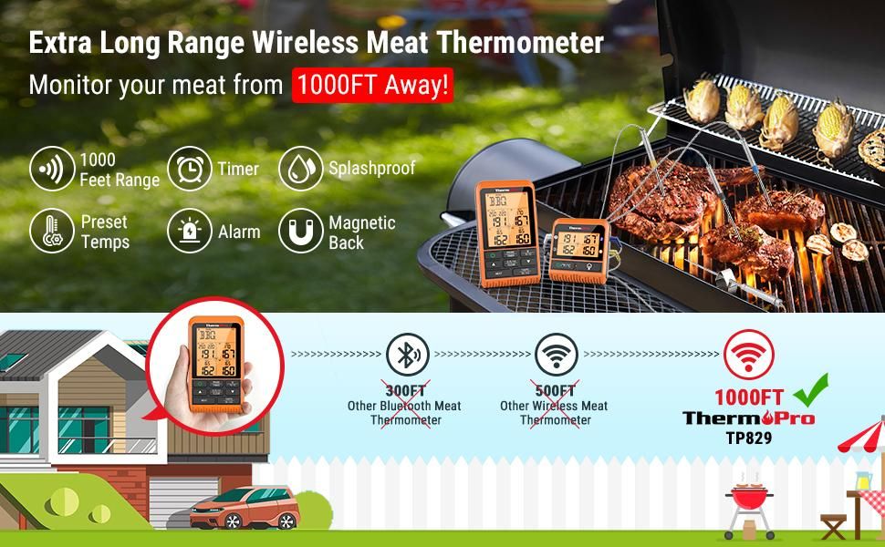 ThermoPro TP829 Super Long Range Wireless Meat Thermometer