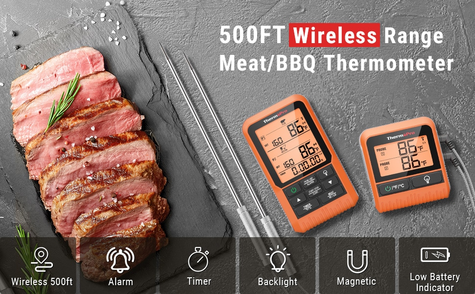 500FT Wireless Range Meat Thermometer