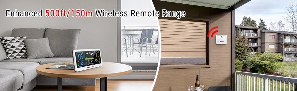 Enhanced 500ft/150m Wireless Remote Range